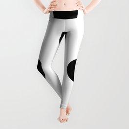 Giant Black and White Polka Dots   Leggings