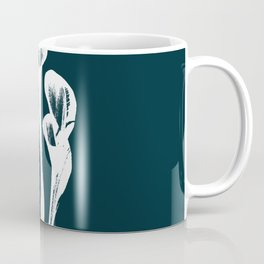 Calla Lily - Navy Coffee Mug