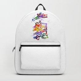 Thoracic Vertebrae Art Colorful Blue Purple Watercolor Gift Anatomy Art Clinic Decor Backpack