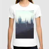 potter T-shirts featuring Harry Potter - Hogwarts by Juniper Vinetree