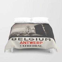 Vintage poster - Antwerp Duvet Cover