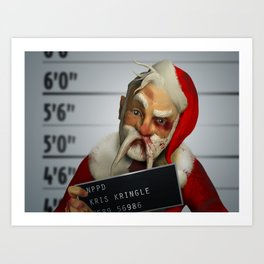 Kris Kringle: The 2 hours & 45 Minutes Before Christmas Art Print