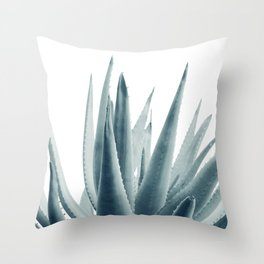 Agave Blue Vibe #1 #tropical #decor #art #society6 Throw Pillow