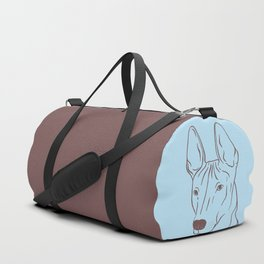 Xoloitzcuintli (Light Blue and Taupe) Duffle Bag
