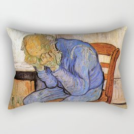 At Eternity's Gate by Vincent van Gogh Rectangular Pillow