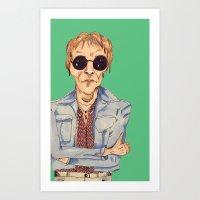 hippie Art Prints featuring hippie  by Lorelei Diener