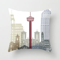 San Antonio skyline poster Throw Pillow