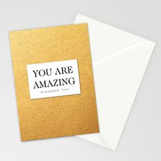 You are amazing Stationery Cards