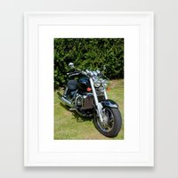 motorbike Framed Art Prints featuring Motorbike by Imager