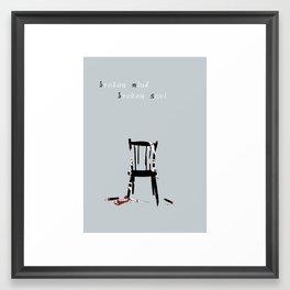 Broken mind, broken soul Framed Art Print
