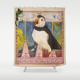 Innu Munaikutan ( Arctic Puffin ) Shower Curtain