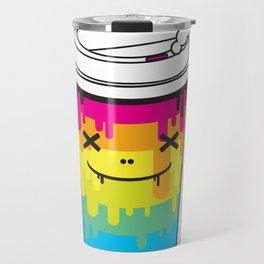 Coffee Lover rainbow illustration original pop art print Travel Mug
