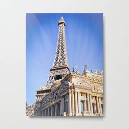 Eiffel tower at Las Vegas, USA with blue sky Metal Print