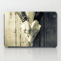 animal skull iPad Cases featuring Animal Skull I (Duotone) by Digital.Soapbox