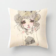 King Mus Throw Pillow