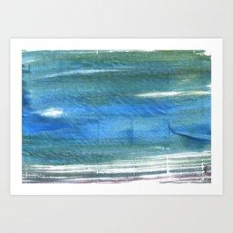 Teal blue watercolor Art Print