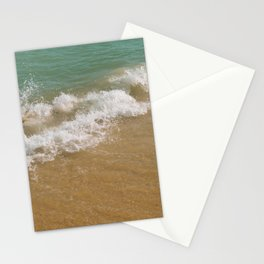 BEACHSCAPE ABSTRACT Mint waves Stationery Cards
