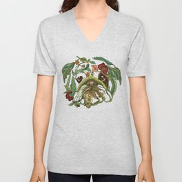 Botanical English Bulldog Unisex V-Neck