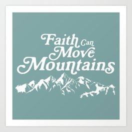 Retro Faith can Move Mountains Art Print