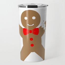 Christmas Attire Don't Make this Ginger Snap Gingerbread Boy Travel Mug