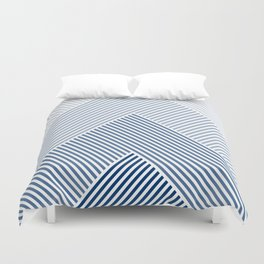 Shades of Blue Abstract geometric pattern Duvet Cover