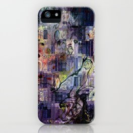 Storm In A Teacup II Mixed Media Painting iPhone Case