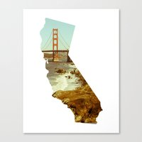 california Canvas Prints featuring California by Gabriel Sul