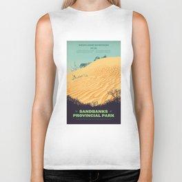 Sandbanks Provincial Park Poster Biker Tank