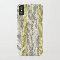herringbone iPhone & iPod Cases featuring herringbone by wit & whistle