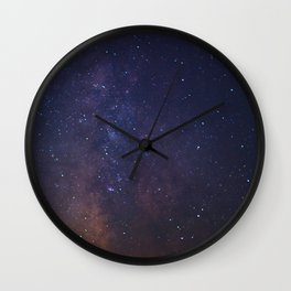 The Milky Way Galaxy Over The White Mountains Wall Clock