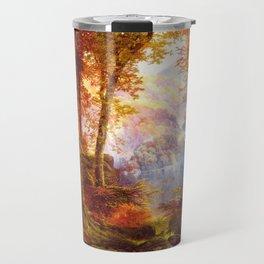 Under The Trees 1865 By Thomas Moran   Natural Wildlife Scenery Reproduction Travel Mug