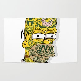 Tatted Up Homer Rug