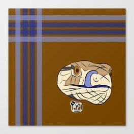 Blue Tongues Skink Plaid Canvas Print