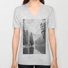 The Perfect View (Black and White) Unisex V-Neck