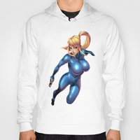 metroid Hoodies featuring Samus-Metroid  by Deadly Casino Designs