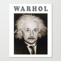 einstein Canvas Prints featuring EINSTEIN by BUMMERAMA