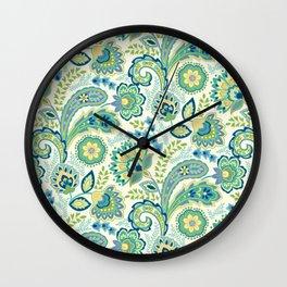 Spring Garden Paisley Wall Clock