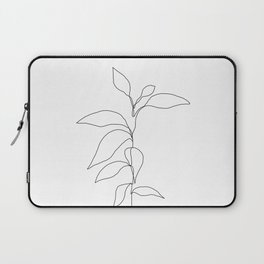 Single line plant drawing - Danya Laptop Sleeve