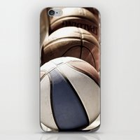 basketball iPhone & iPod Skins featuring Basketball by SShaw Photographic