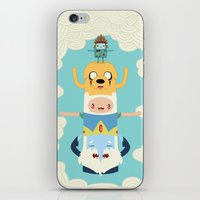 jake iPhone & iPod Skins featuring Adventure Totem by Daniel Mackey