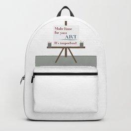 Make Time For Art Backpack