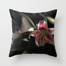 Flowering Lilies | Scanography Throw Pillow