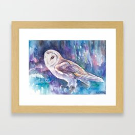 Snow Owl Framed Art Print