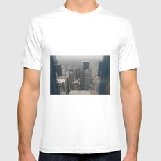 Skyline in Perspective White MEDIUM Mens Fitted Tee