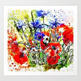 Garden Chock Full of Flowers Art Print