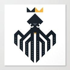 Octopus Rex Logo in Black Canvas Print