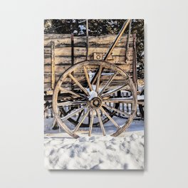 Old West Wagon Metal Print