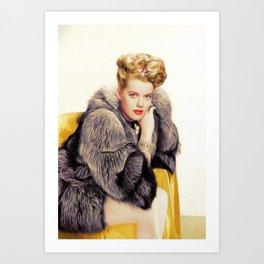 Janis Paige, Vintage Actress Art Print