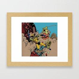 Groo The Wanderer and Rufferto Vs. Wolverine  Framed Art Print