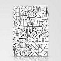 writing Stationery Cards featuring ALIEN WRITING by Matthew Taylor Wilson
